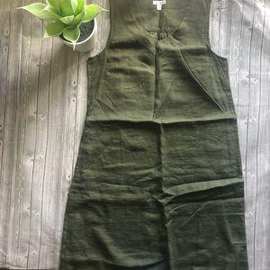 J Jill Love Linen Pocket Sleeveless Dress
